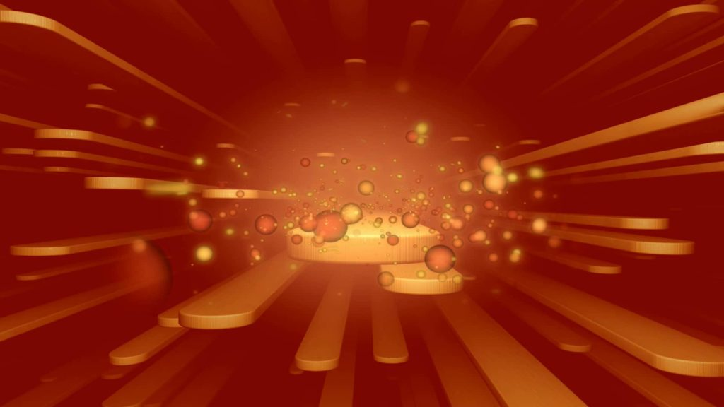 An Abstract Orange and Red ligths video menue Themed Background With Coloured Geometric Shapes